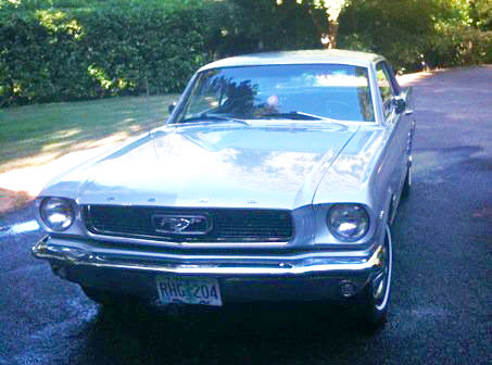 1966+1/2 Blue Mustang coupe