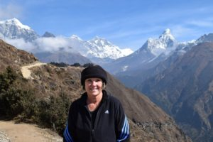 Gail on a trip